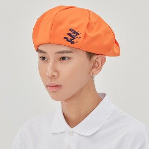 E.D.V NEWSBOY CAP_ORANGE