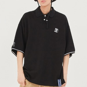 E.D.V Piping Pique Shirt_Black