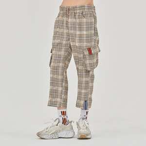 Check Pocket Ankle Pants_Grey