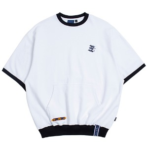 Pocket Sweat T Shirt_White
