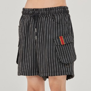 E.D.V Stripe Shorts_Black