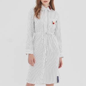 GNAC STRIPE SHIRT DRESS_WHITE
