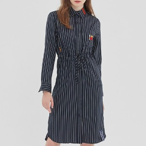 GNAC STRIPE SHIRT DRESS_NAVY