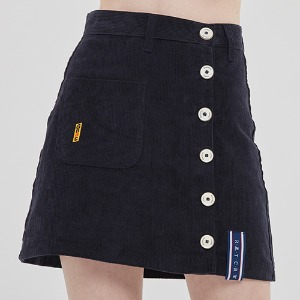 CORDUROY POCKET SKIRT_NAVY
