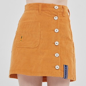 CORDUROY POCKET SKIRT_YELLOW