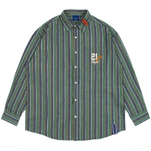 90S STRIPED SHIRT_GREEN