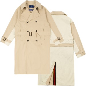 WIDE LAPEL TRENCH COAT_BEIGE