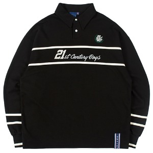 21C BOYS RUGBY SHIRT_BLACK