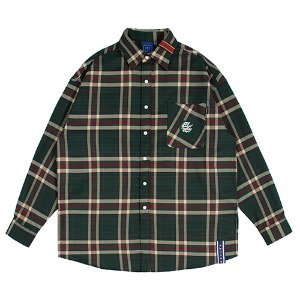 OLD CHECK WIDE SHIRT_GREEN