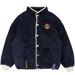 BUTTON FLEECE JUMPER_NAVY