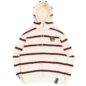 21C BOYS STRIPE HOOD_OATMEAL