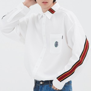BACK LINE OVER FIT SHIRT_WHITE