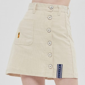 CORDUROY POCKET SKIRT_OATMEAL
