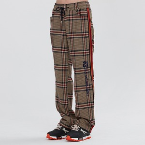 OLD CHECK SLACKS_BEIGE
