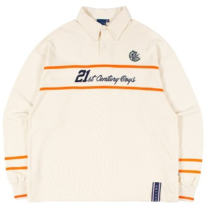 21C BOYS RUGBY SHIRT_OATMEAL