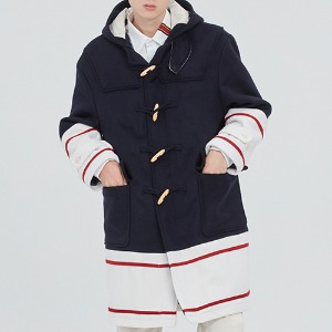 [1/29 예약발송]SIGNATURE DUFFEL COAT_NAVY