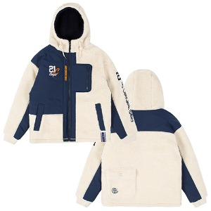 HEAVY LAYOUT FLEECE JUMPER_OATMEAL
