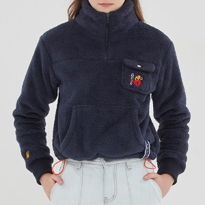 UNLOCK YOUR MIND FLEECE ANORAK_NAVY