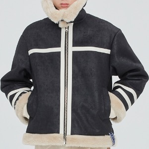 COLD WAVE MOUTON JACKET_BLACK
