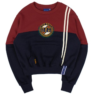 GNAC COLOR BLOCK SWEATSHIRT_BURGUNDY