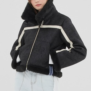 GNAC SHORT MOUTON JACKET_BLACK