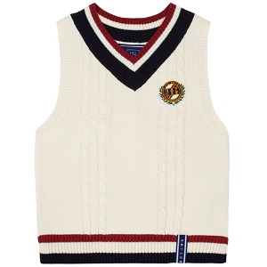 [1/29 예약발송]V NECK CABLE KNIT VEST_OATMEAL