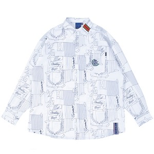 OUTLINE GRAPHIC SHIRT_WHITE
