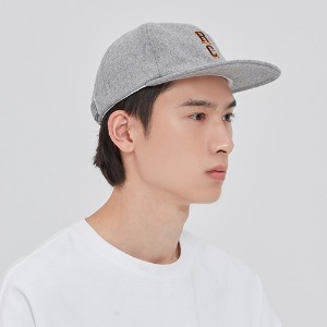 RC LOGO WOOL BALL CAP_GREY