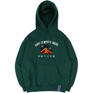 21C BOYS LOGO HOOD_GREEN