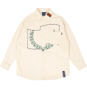 CORDUROY WIDE SHIRT_OATMEAL