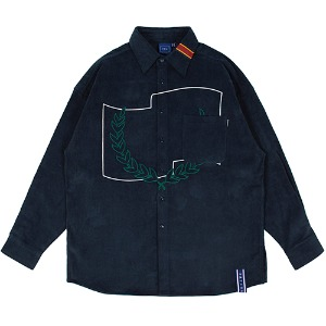 CORDUROY WIDE SHIRT_NAVY