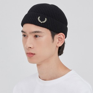 LAUREL CROWN WATCH CAP_BLACK