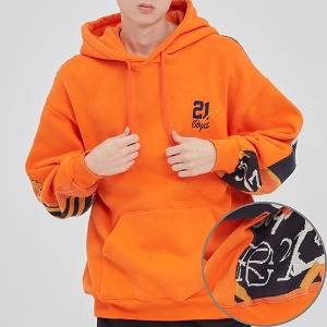 21C BOYS JACQUARD HOOD_ORANGE