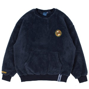 [1/29 예약발송]ALL FLEECE POCKET CREW NECK_NAVY