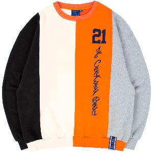 [1/29 예약발송]CLASSIC LOGO MIX SWEATSHIRT_ORANGE