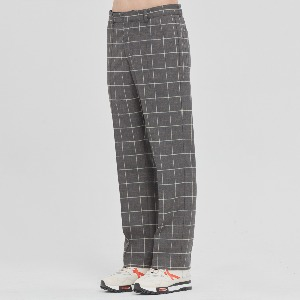 [1/30 예약발송]FRIDAY CHECK DRESS PANTS_GREY