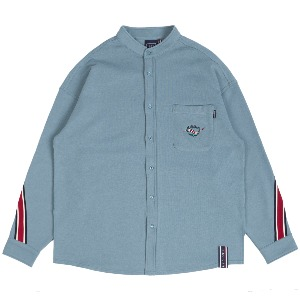 HENRY NECK BACK LINE SHIRT_LIGHT BLUE