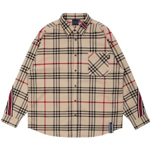 BACK LINE CHECK SHIRT_BEIGE
