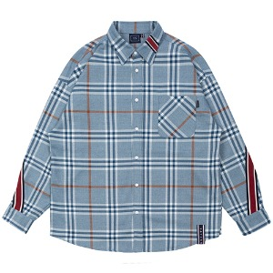 BACK LINE CHECK SHIRT_LIGHT BLUE