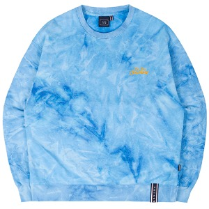 TIE DYE LOGO SWEAT SHIRT_BLUE