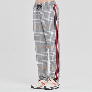 SIDE LINE CHECK PANTS_GREY