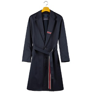 BELT TAPE OVERFIT COAT_NAVY