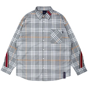 BACK LINE CHECK SHIRT_GREY