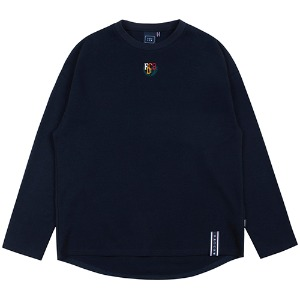 WORLD MAP LONG SLEEVE_NAVY