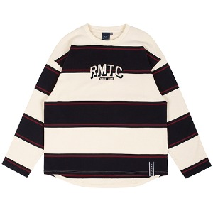 RMTC STRIPED LONG SLEEVE_OATMEAL