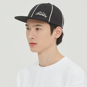 FRIDAY PIPING BALL CAP_BLACK