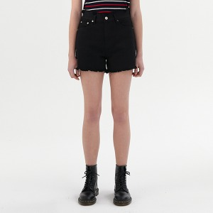 [KIRSH X RMTCRW]GNAC CHERRY SHORT PANTS_BLACK