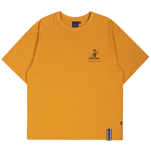 [PIZZAHUT X RMTCRW]PIZZA POSTER TEE_YELLOW