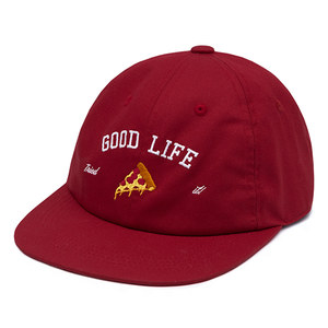 [PIZZAHUT X RMTCRW]GOOD LIFE BALL CAP_BURGUNDY
