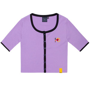UNLOCK YOUR MIND HALF CARDIGAN_PURPLE